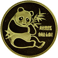 1982  1/10oz Gold Panda Coin Obv