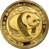 1983  G5Y Gold Panda Coin Obv