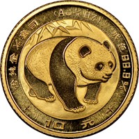 1983  G10Y Gold Panda Coin Obv