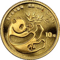 1984  G10Y Gold Panda Coin Obv