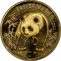 1986  G10Y Gold Panda Coin Obv