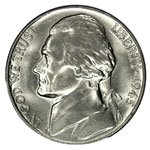 Jefferson Five Cents - Jefferson Nickel - Jefferson 5C