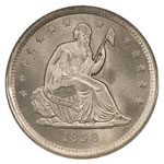Liberty Seated Quarters - Seated Liberty Quarter Dollar - Seated Liberty No Motto Quarter Dollar - Seated Liberty with Arrows Quarter Dollar