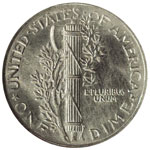 Mercury Dimes - Winged Liberty Dime - Mercury 10C