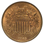 Shield Two Cents - Two Cent Piece - 2C