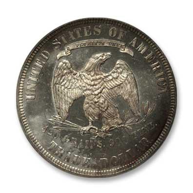 NGC -Eliasberg 1885 Trade Dollar Rev