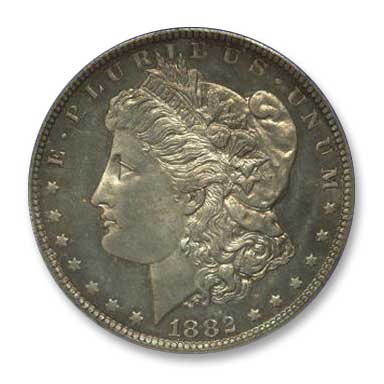 NGC - Jack Lee 1882 Dollar Obv