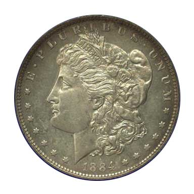 NGC - Jack Lee 1884 Dollar Obv