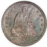 1853 ARROWS & RAYS 25C