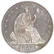 1853 ARROWS & RAYS 50C