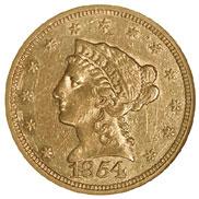 1854 S $2.5