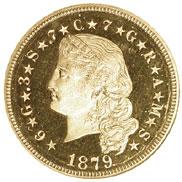 1879 FLOWING HAIR $4