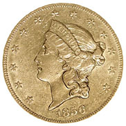 1856 O $20