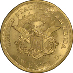 Graded SS Republic Coin - 1862 Double Eagle