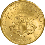 SS Republic Coin - 1865 Coronet Double Eagle
