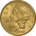 SS Republic Coin - 1863-S Double Eagle
