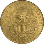 SS Republic Coin - 1861-S Coronet Double Eagle with Paquet Reverse