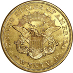 SS Republic Coin - 1854 Small Date Double Eagle