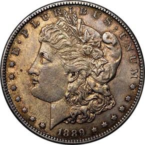 1889 CC S$1 MS obverse