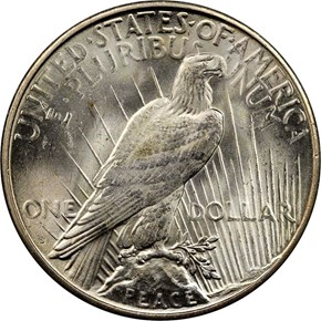 1923 S S$1 MS reverse