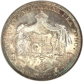 1883 HAWAII S$1 MS reverse