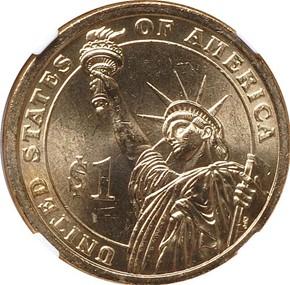 2007 P JOHN ADAMS DBL.EDG.LET. - INVERTED $1 MS reverse