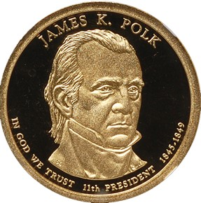 2009 S JAMES K. POLK $1 PF obverse