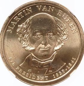 2008 P MARTIN VAN BUREN $1 MS obverse