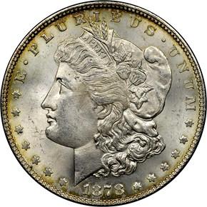 1878 7TF REV OF 78 S$1 MS obverse
