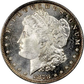 1878 8TF S$1 MS obverse