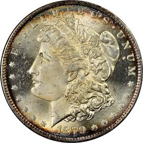 1879 O S$1 MS obverse