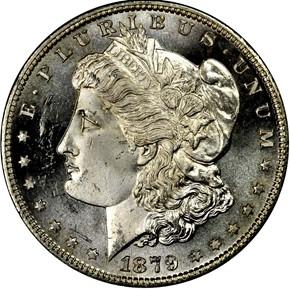 1879 S S$1 MS obverse