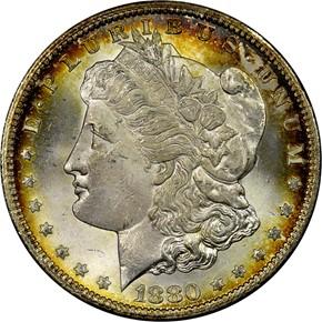 1880 CC HITLIST-40 VAM-7 REV OF 78 S$1 MS obverse