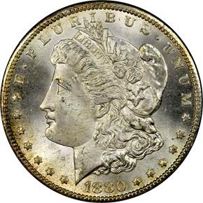 1880 CC S$1 MS obverse