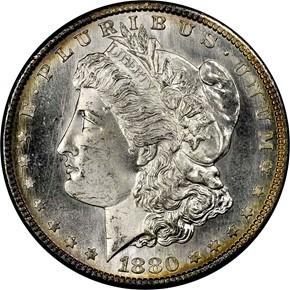 1880 S S$1 MS obverse