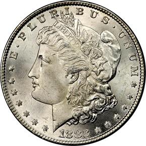 1882 S$1 MS obverse
