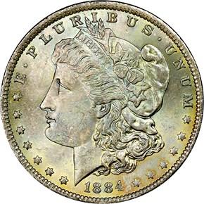 1884 O S$1 MS obverse
