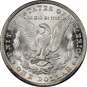 1886 S$1 MS reverse