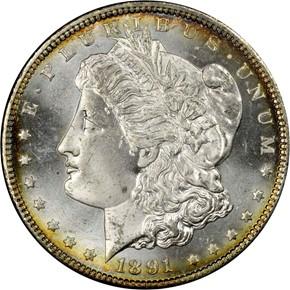 1891 CC S$1 MS obverse