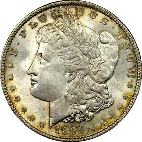 1891 S$1 MS obverse
