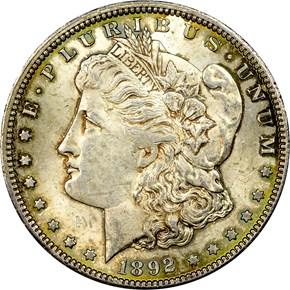 1892 CC S$1 MS obverse