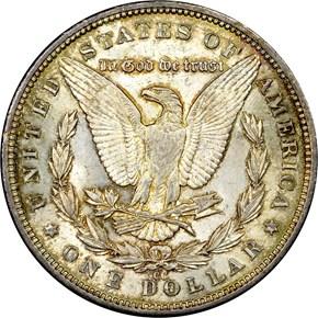 1892 CC S$1 MS reverse