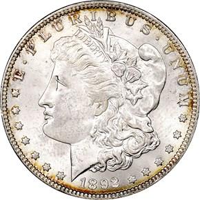 1892 O S$1 MS obverse