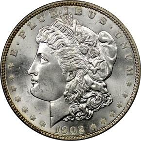 1902 S$1 MS obverse