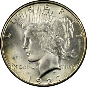 1927 S S$1 MS obverse