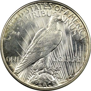 1934 D S$1 MS reverse
