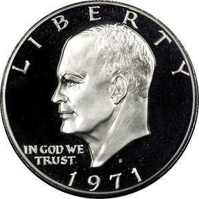 1971 S SILVER $1 PF obverse