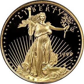 1999 W EAGLE G$10 PF obverse