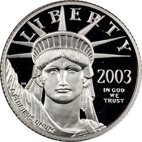 2003 W EAGLE P$10 PF obverse