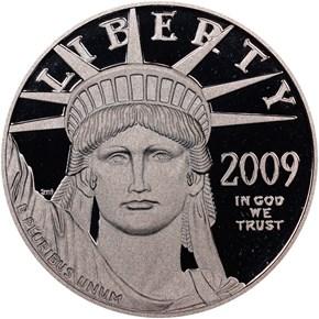 2009 W EAGLE P$100 PF obverse